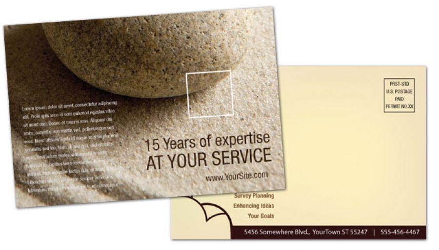 Business Advisor Postcard Design Layout