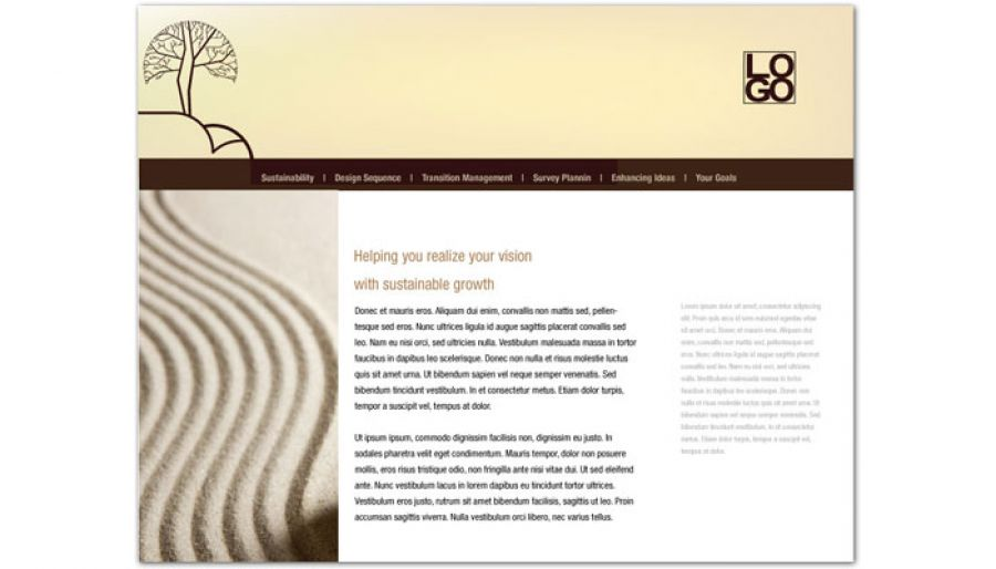 Business Advisor Website Design Layout