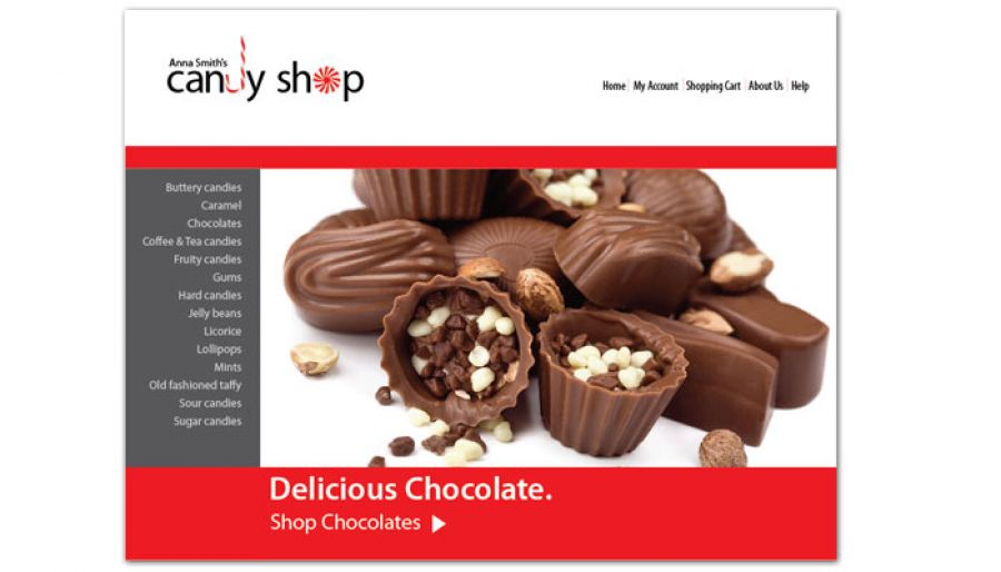 Candy Shop Confectionery Website Design Layout