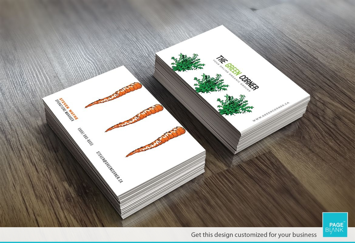 Business card template for carrot order custom business card design carrot business card design layout magicingreecefo Gallery
