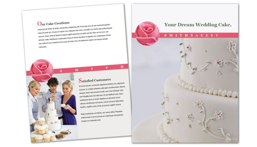 Flyer Template For Catering Wedding Bakery. Order Custom Flyer Design