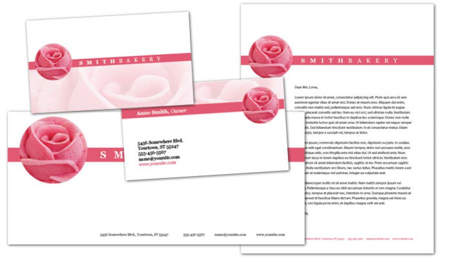 Catering Wedding Bakery Letterhead Design Layout