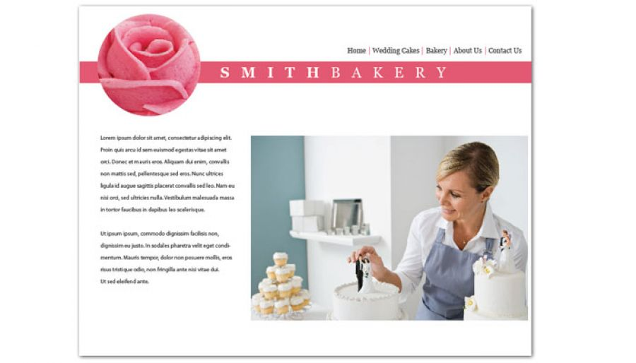 Catering Wedding Bakery Website Design Layout