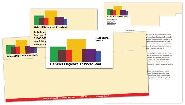 Child Development Center Letterhead Design Layout