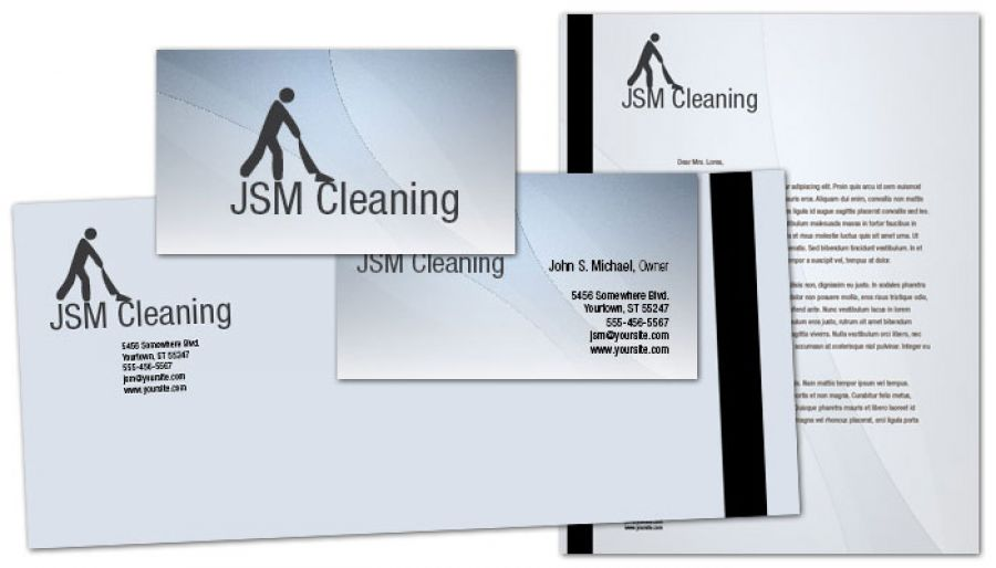 Cleaning Hospitality Services Letterhead Design Layout