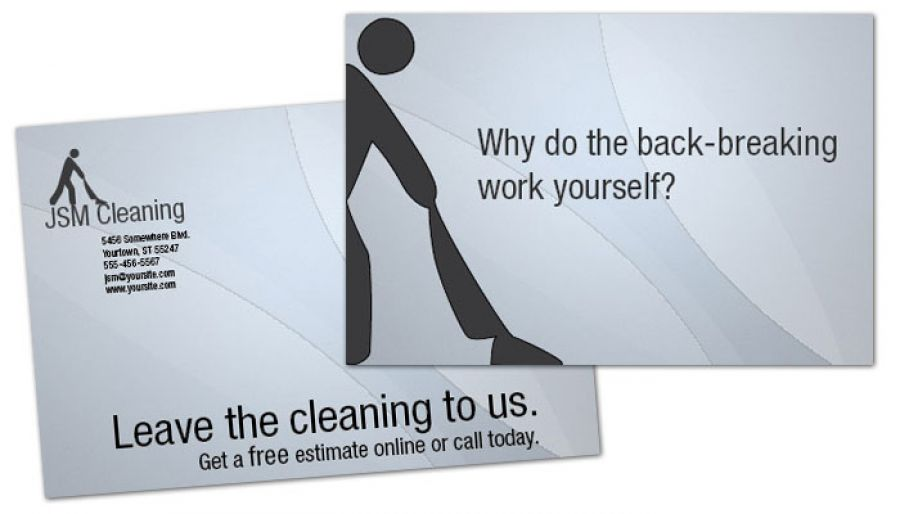 Cleaning Hospitality Services Postcard Design Layout