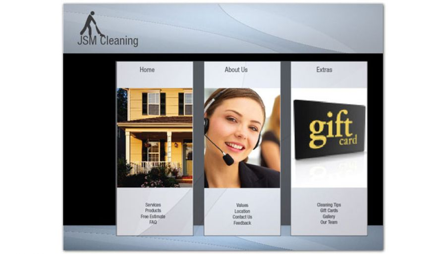 Cleaning Hospitality Services Website Design Layout