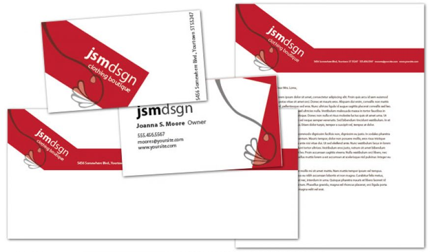 Clothing Boutique Fashion Stylist Business Card Design Layout