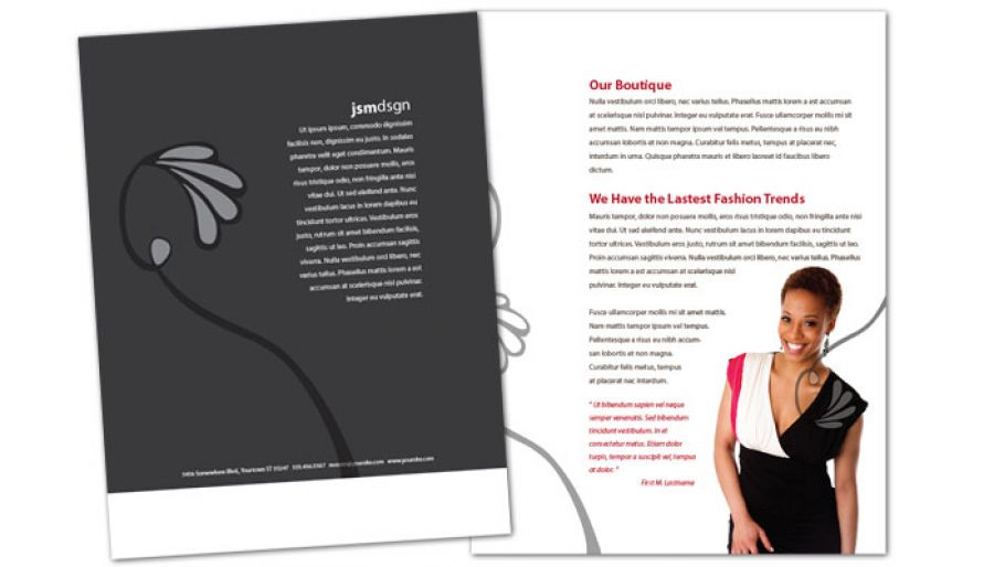 Clothing Boutique Fashion Stylist Flyer Design Layout