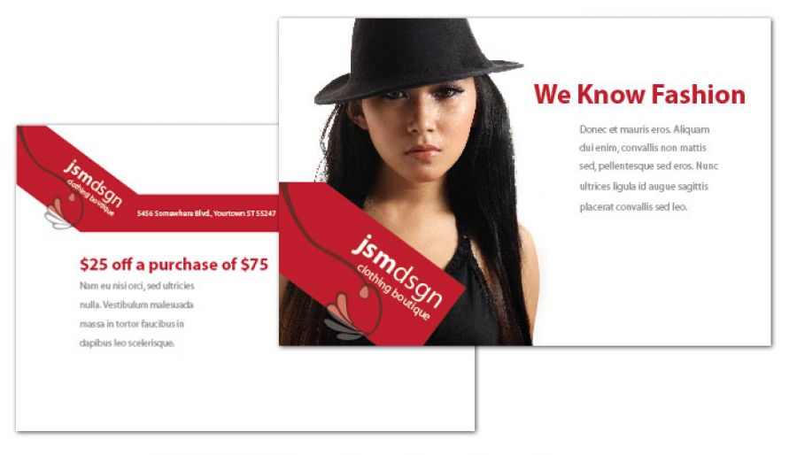 Tri Fold Brochure Template For Clothing Boutique Fashion Stylist