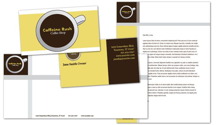 Coffee Shop Menus Business Card Design Layout