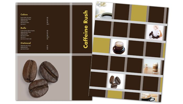 Flyer Template For Coffee Shop Menus. Order Custom Flyer Design