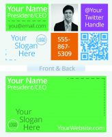Colorful Business Card Design-Design Layout