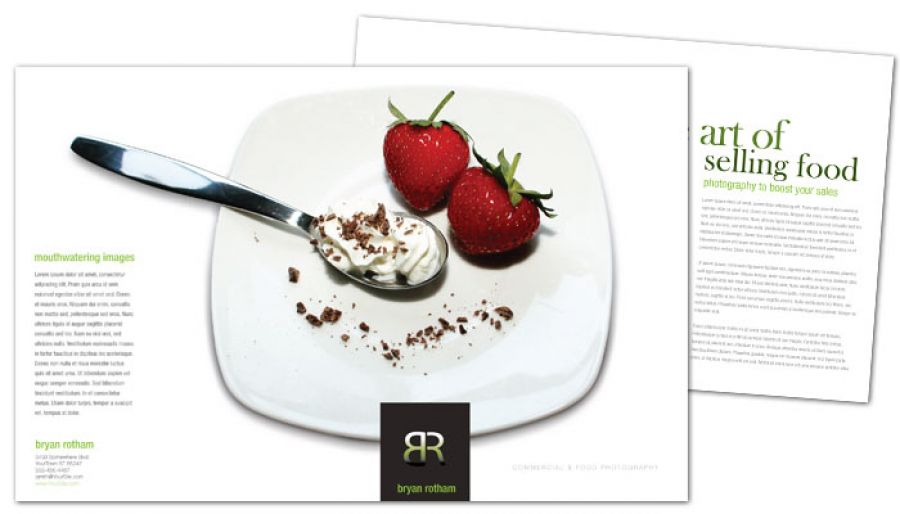 Commercial Photographer Food Photographer Flyer Design Layout