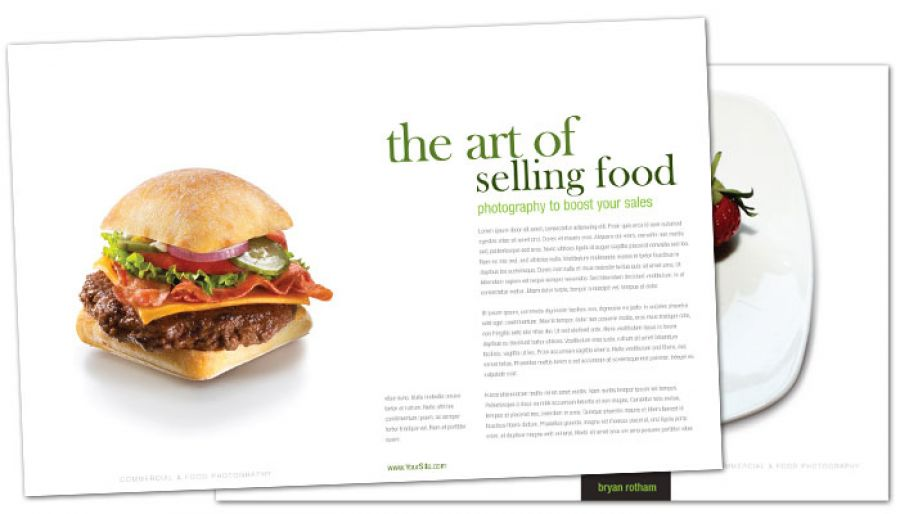 Commercial Photographer Food Photographer Half Fold Brochure Design Layout
