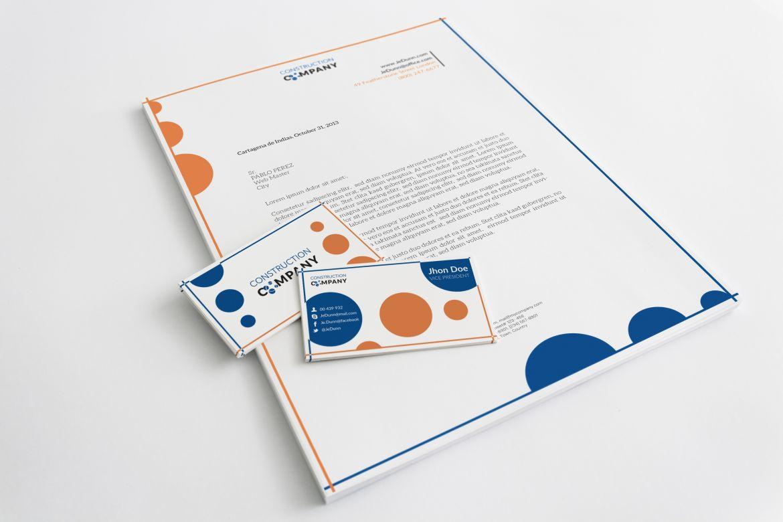 Construction company letterhead template