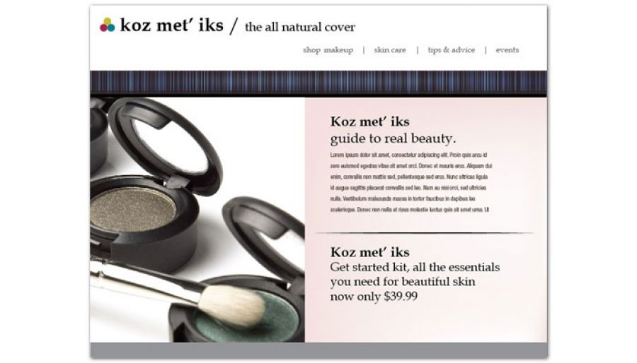 Cosmetics Makeup Consultant Website Design Layout