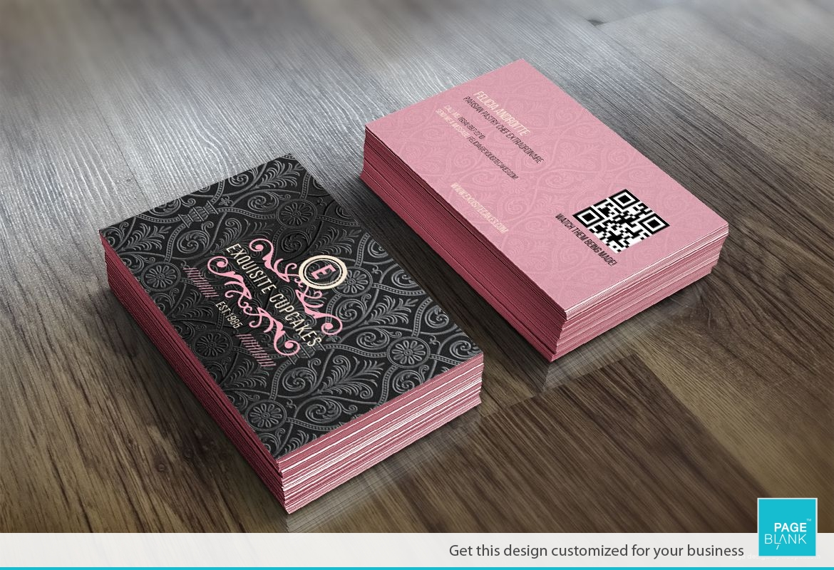business card template for cupcake order custom business card design