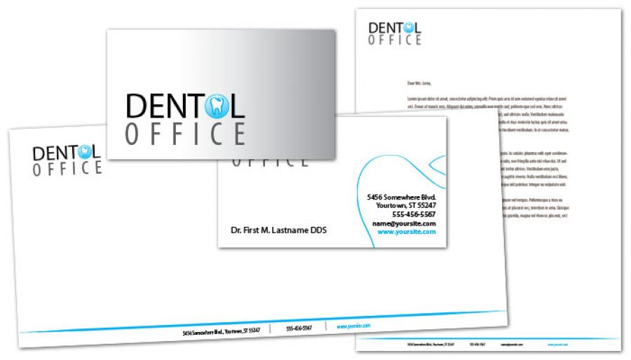 Dentist Dental Office Business Card Design Layout
