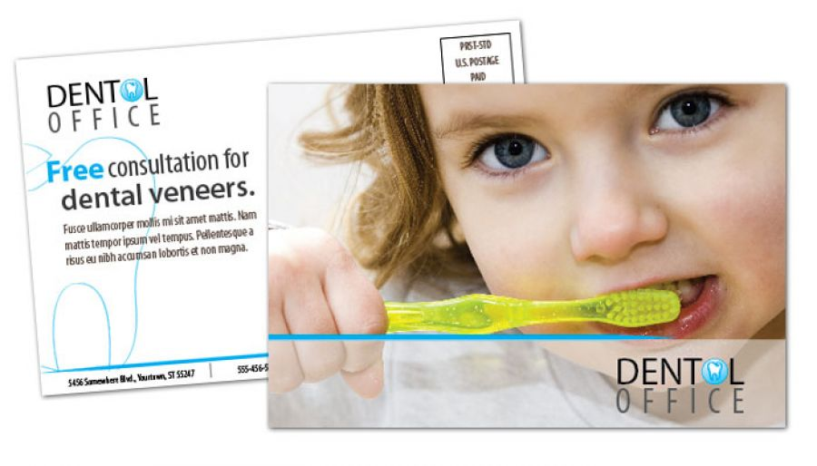Dentist Dental Office Postcard Design Layout