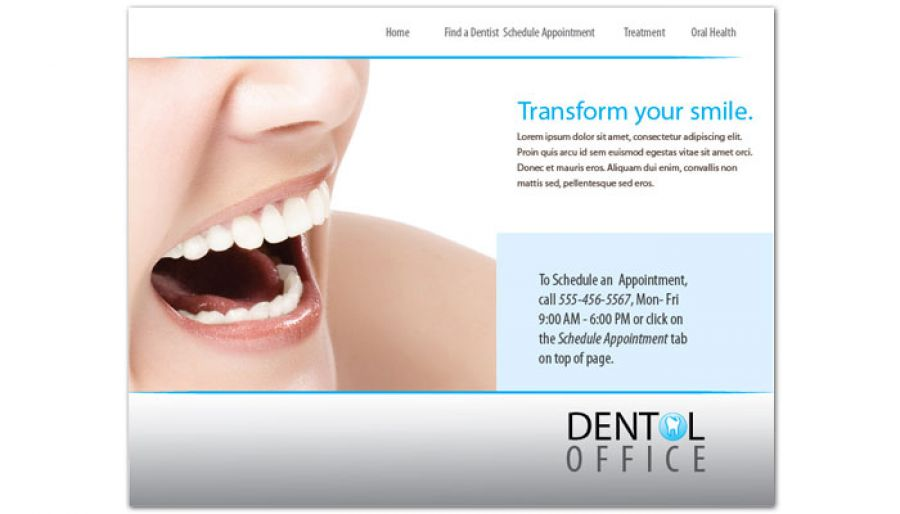 Dentist Dental Office Website Design Layout