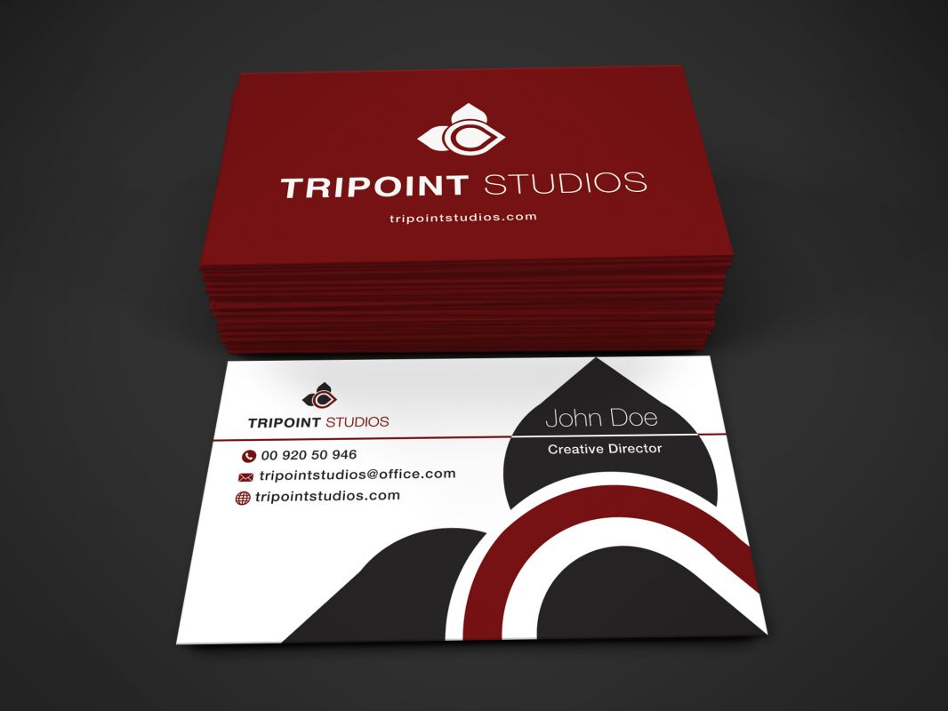 Design Company Marketing Materials Business Card Design Layout