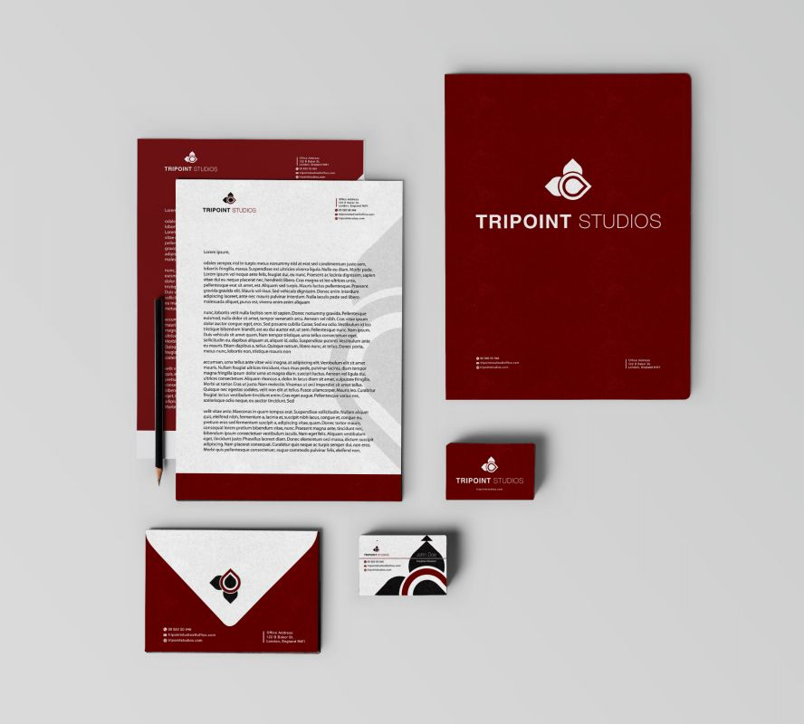 Design Company Marketing Materials Envelope Design Layout