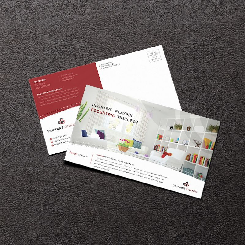 Design Company Marketing Materials Postcard Design Layout
