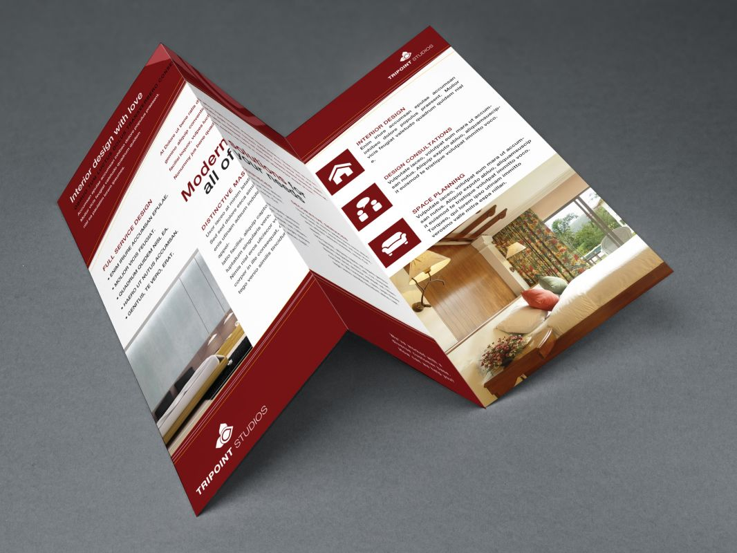 Design Company Marketing Materials Tri Fold Brochure Design Layout