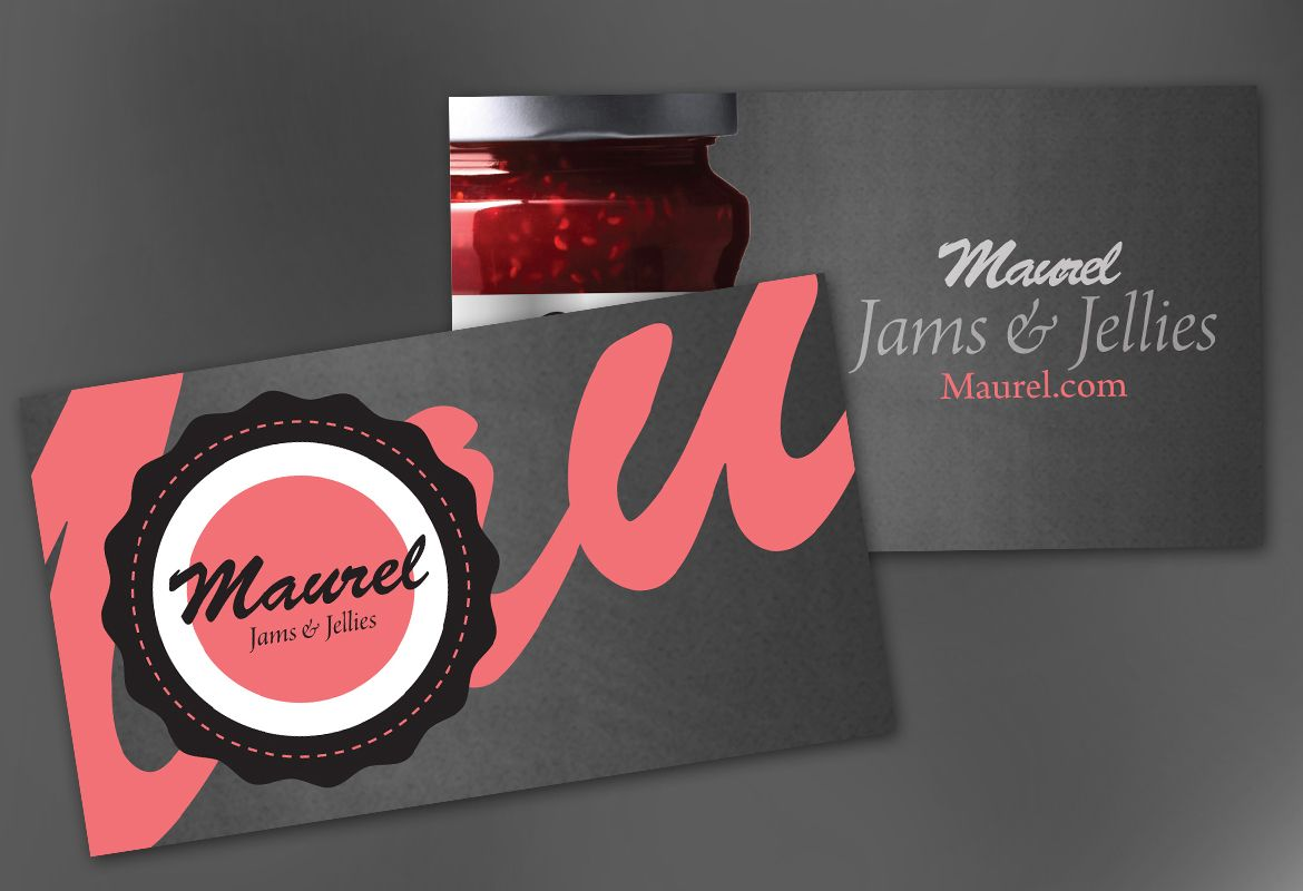Design concept for Condiments Preserves Business Card Design Layout
