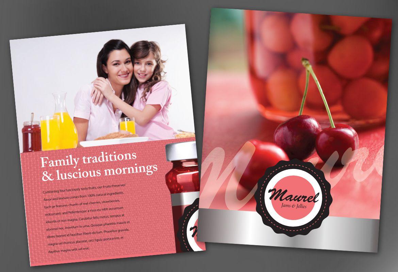 Design concept for Condiments Preserves Flyer Design Layout