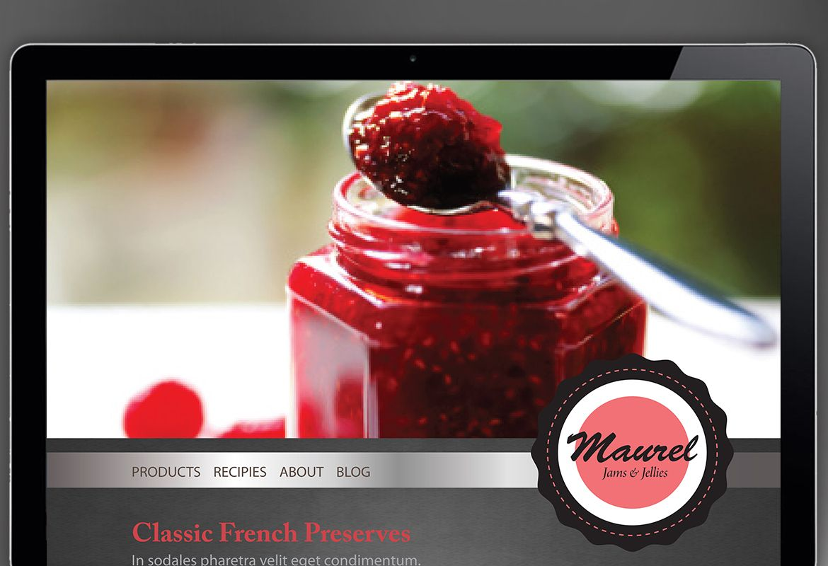 Design concept for Condiments Preserves Website Design Layout