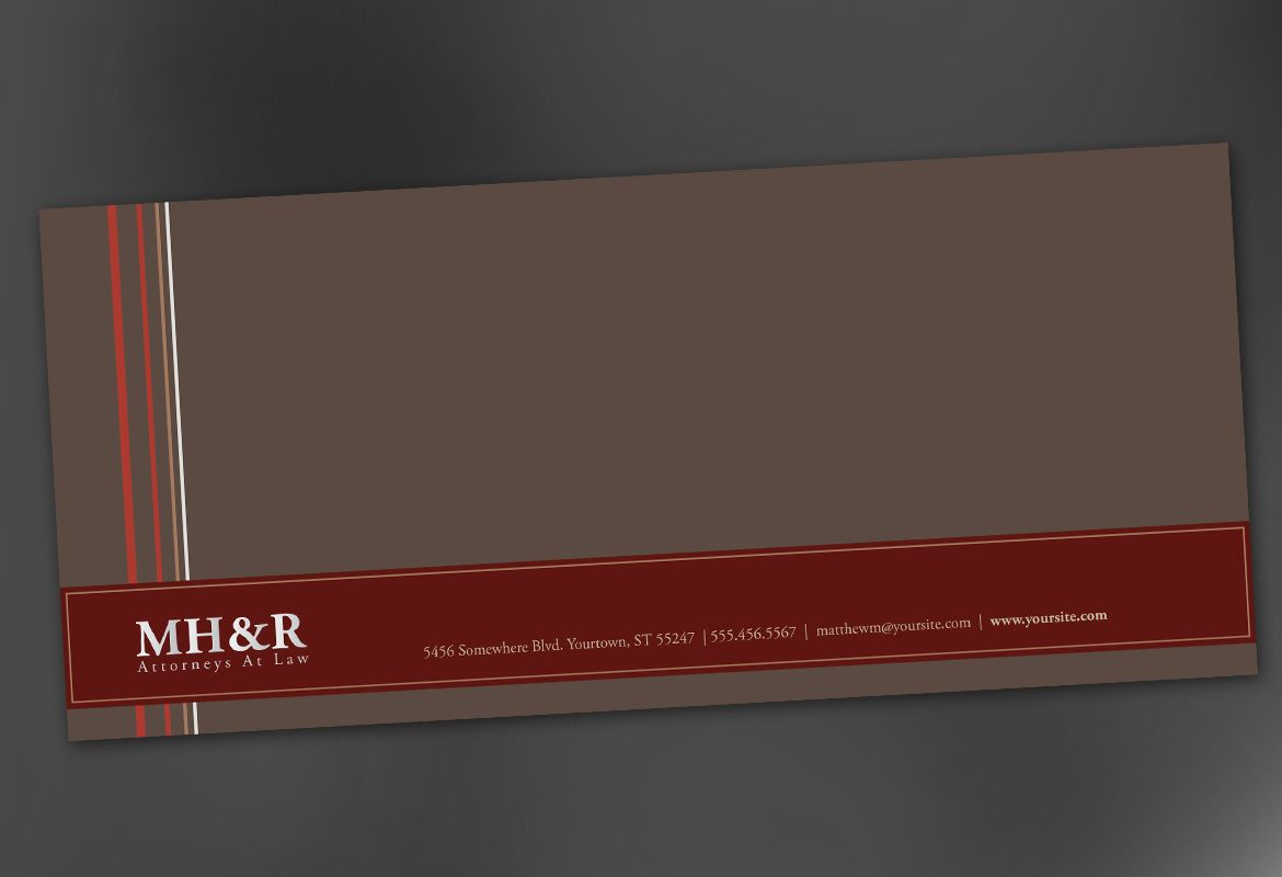 Design for Attorney and Legal Firms Envelope Design Layout