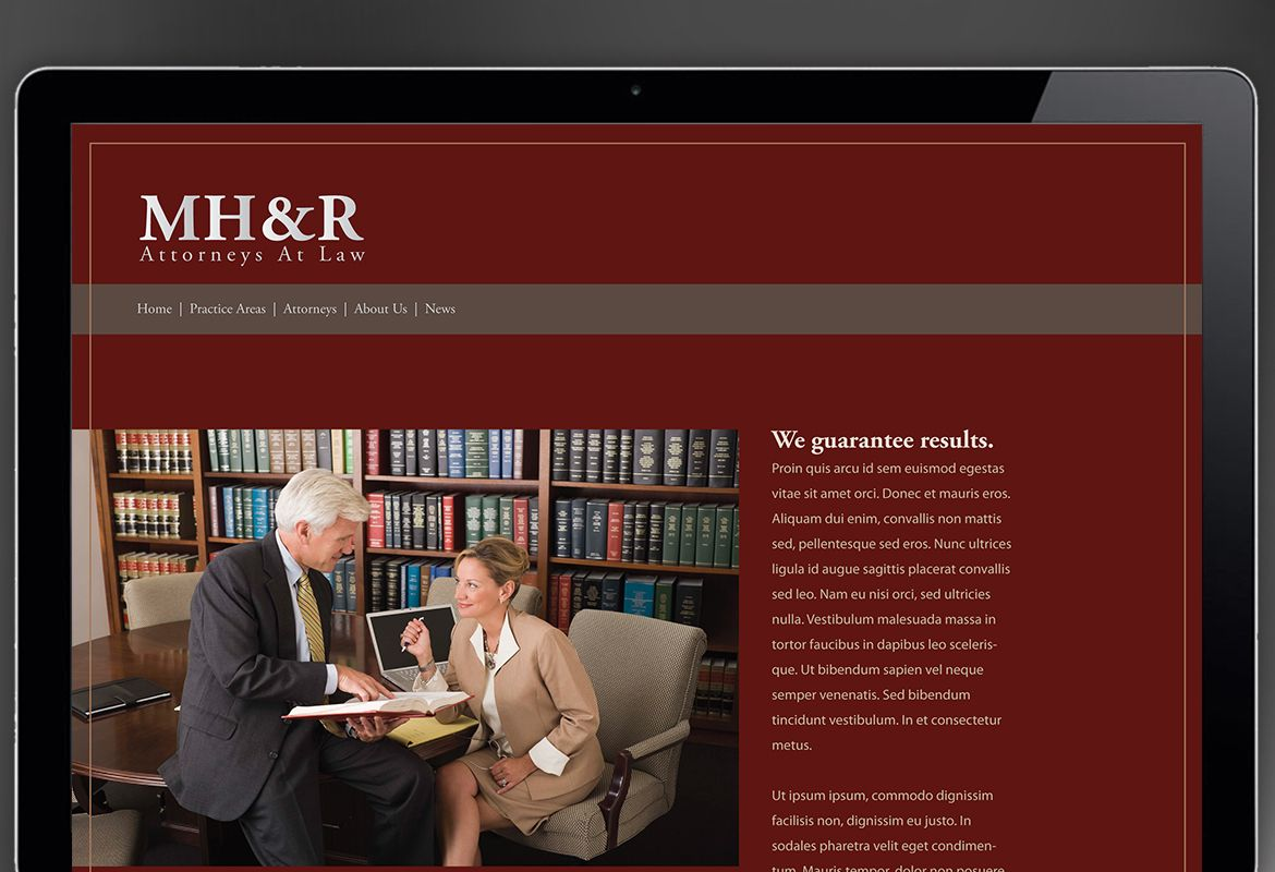 Design for Attorney and Legal Firms Website Design Layout