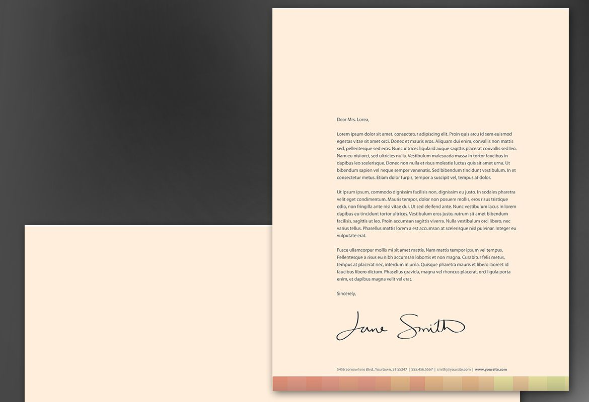 Design for Illustrator artist photographer Letterhead Design Layout