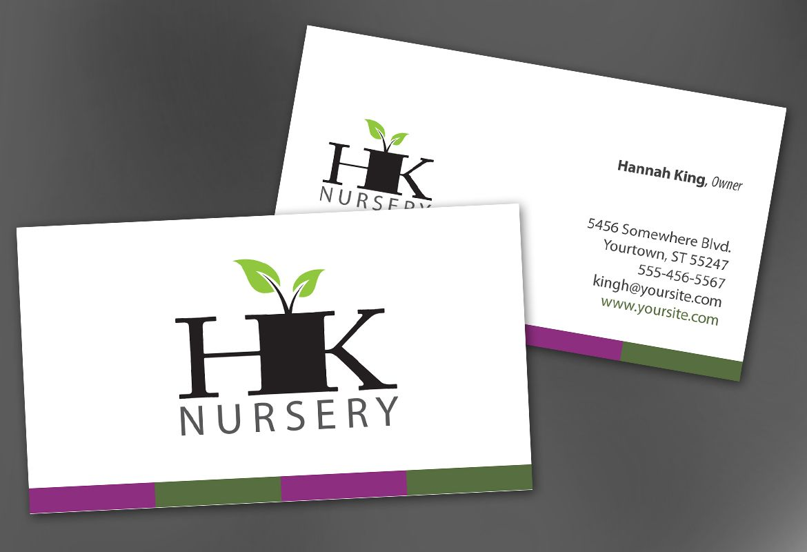 Design for nurseries amp planting centers Business Card Design Layout