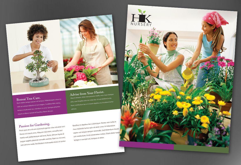 Design for nurseries amp planting centers Flyer Design Layout
