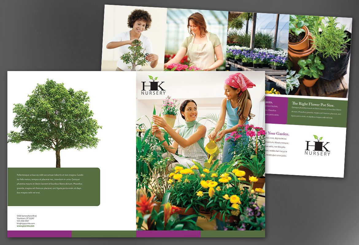 Design for nurseries amp planting centers Half Fold Brochure Design Layout