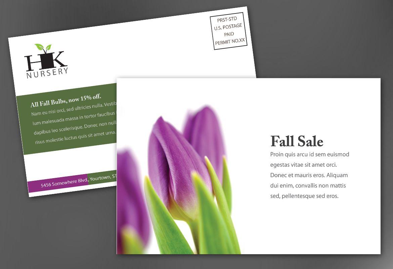 Design for nurseries amp planting centers Postcard Design Layout