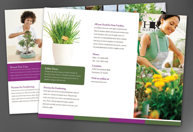 Design for nurseries amp planting centers Tri Fold Brochure Design Layout