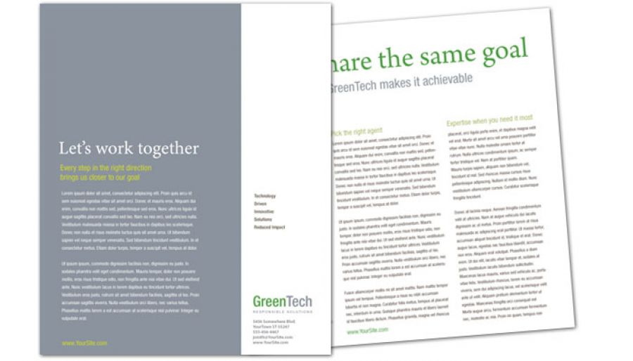 Environmental Company Flyer Design Layout