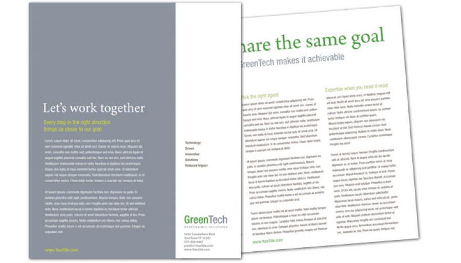 Environmental Company Flyer Design Layout