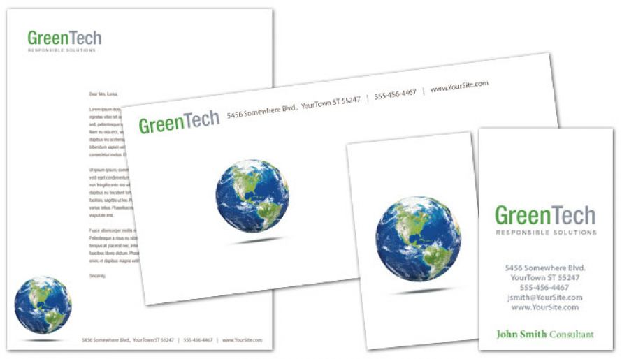 Environmental Company Letterhead Design Layout