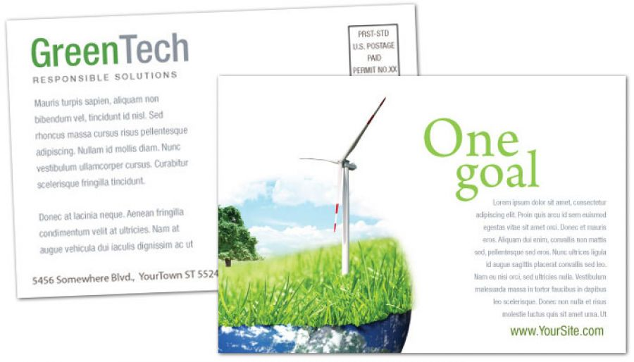 Environmental Company Postcard Design Layout