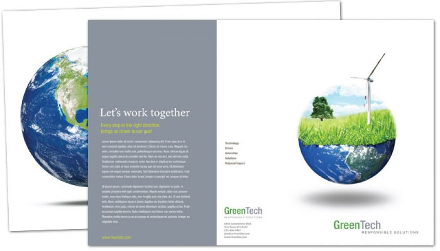 Tri fold brochure template for environmental company order custom tri fold brochure design for Environmental protection plan template