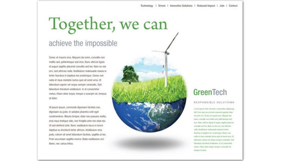 Environmental Company Website Design Layout