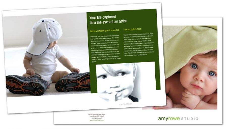 Family Event Photographer Half Fold Brochure Design Layout