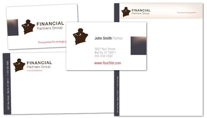 Financial Planner Business Card Design Layout
