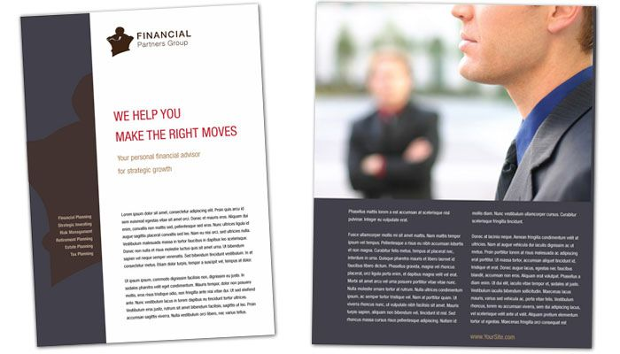 Financial Planner Flyer Design Layout