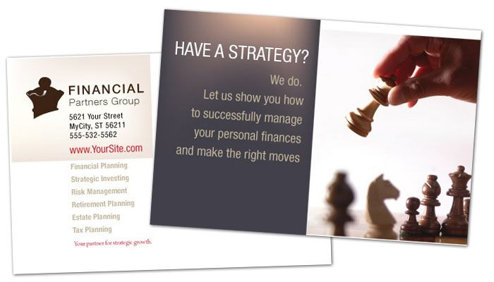 Financial Planner Postcard Design Layout
